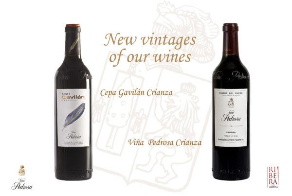 New vintages Viña Pedrosa